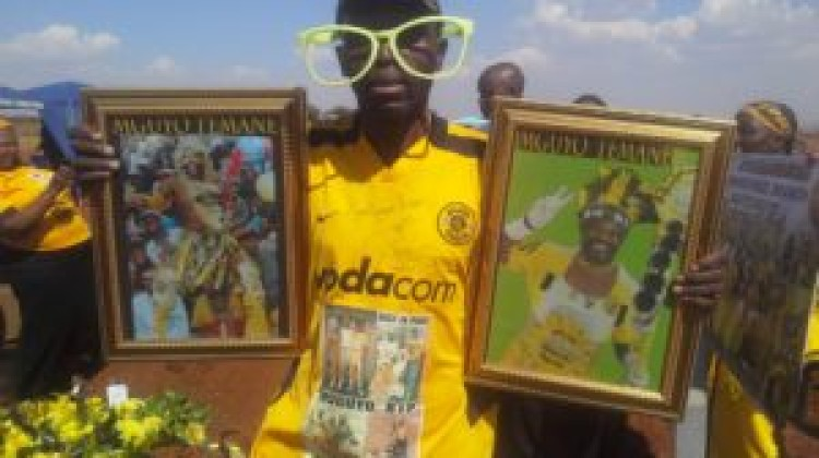 Kaizer Chiefs supporter Samuel 'Mguyo' Temane laid to rest.