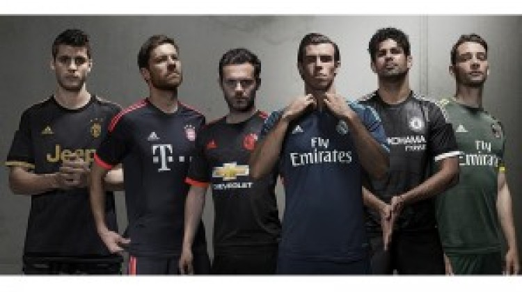 """Adidas unveils """"spark in the night"""" third kits for new season"""