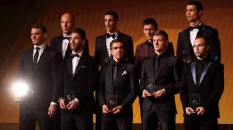55 names for FIFA FIFPro World XI 2015