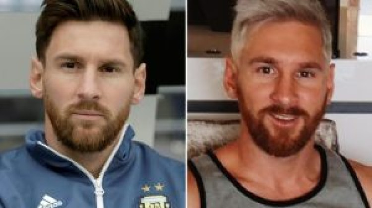 Barcelona star Lionel Messi copies Aaron Ramsey and Phil Jones with bleach blonde hairstyle