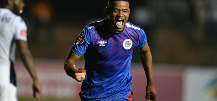 Supersport United move to third place after late goal by Sipho Mbule